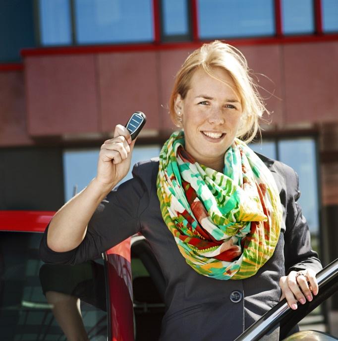 Auto służbowe dla kobiety