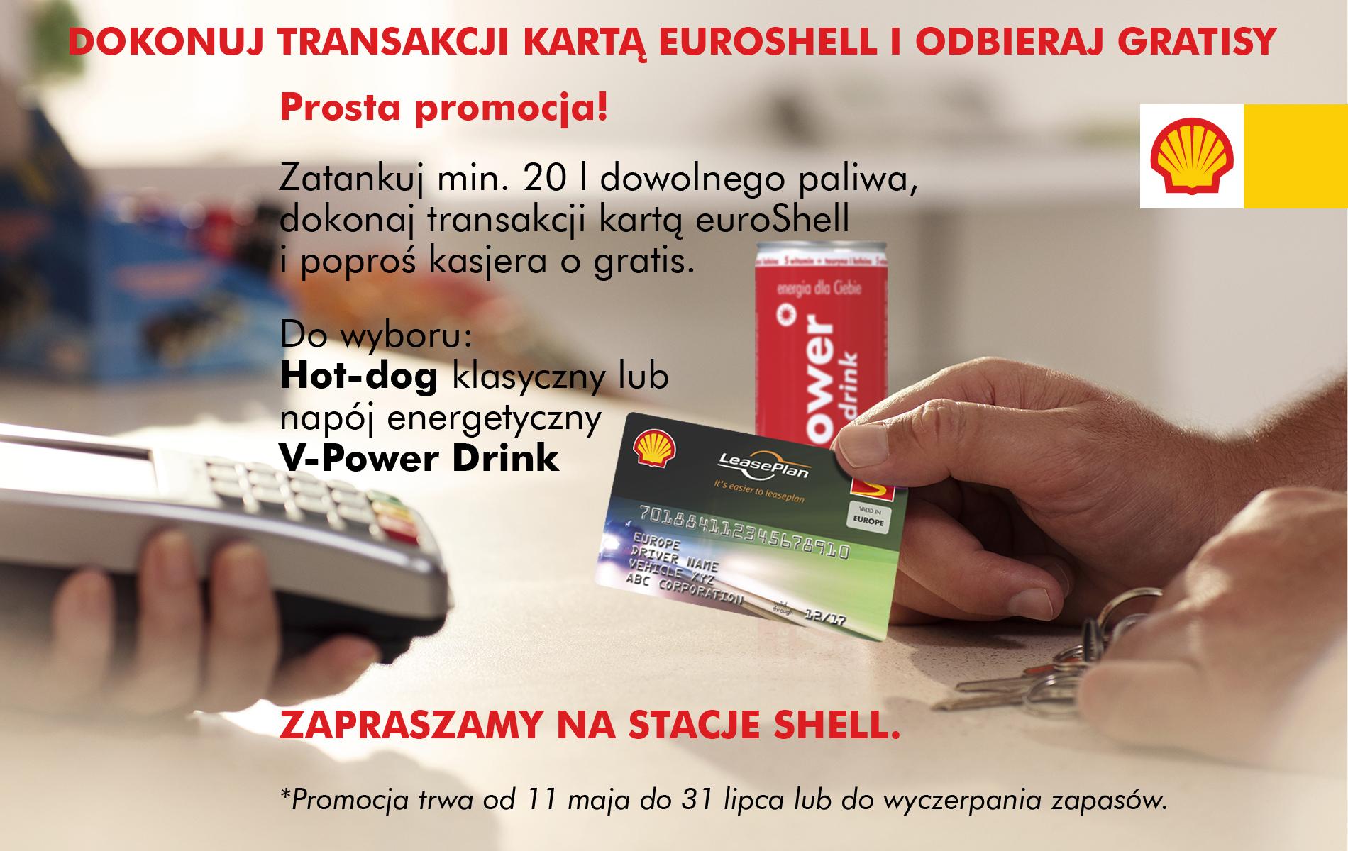 Dokonuj transakcji kartą euroShell i odbieraj gratisy !